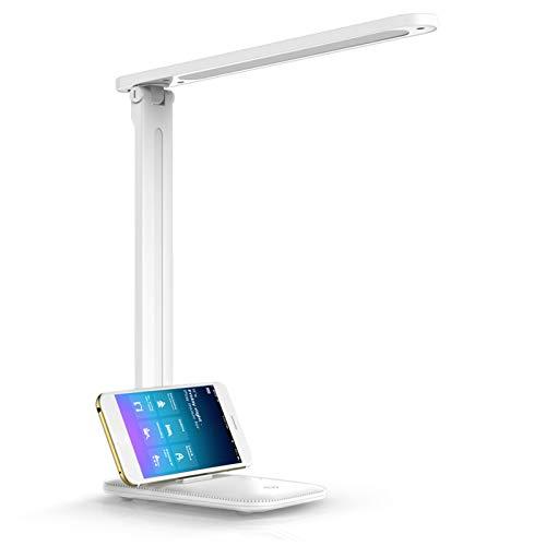 LKESBO LED Desk Lamp Kids White Modern Desk Lamps for Office Home...