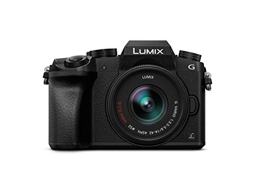 "Panasonic Lumix G7K - Cámara EVIL de 16 MP, Pantalla 3"", Grabación de Vídeo en 4K, Wi-Fi, RAW, Cuerpo Ergonómico, Kit con Objetivo Lumix Vario 14 - 42 mm/F3.5 - 5.6"