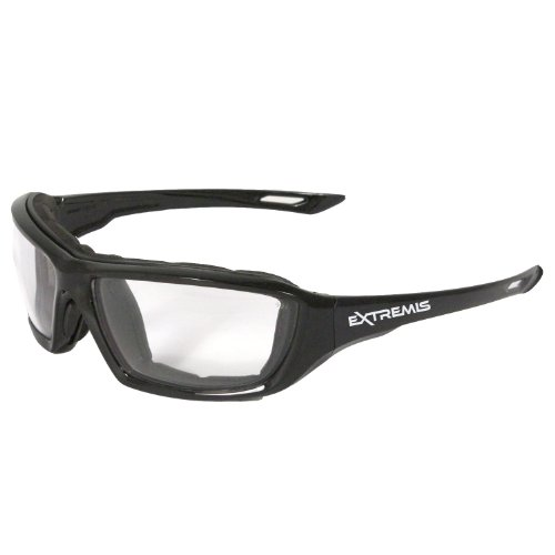 Radians XT1-11 Extremis Full Black Frame Safety Glasses with Clear Anti-Fog...