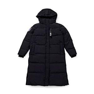BT21 Character Lightweight Long Down Winter Coat Puffer Jacket for Women