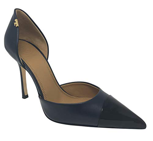 "31nMo3s54LL Calf leather/patent leather 4"" (100mm) heel Cap toe style. Slender heel"