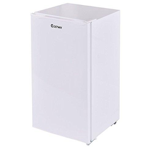 Giantex 3.2 Cu. Ft. Compact Single Reversible Door Mini Refrigerator and Freezer Office