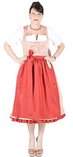 Julia Trentini 12018 Dirndl Kathi 70 arancione chiaro rosso Colore: rosso 42