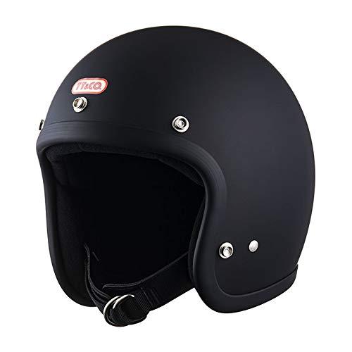 TT&CO. スーパーマグナム スモールジェットヘルメット マットブラック 乗車用 SG/PSC/DOT規格品 ジェットヘルメット