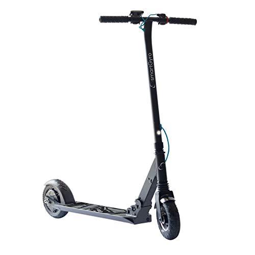 SmartGyro Xtreme XD Patín eléctrico para niños y jóvenes, ruedas 8', 3 velocidades, plegable, ligero, autonomía de 18 Km, batería de litio, freno eléctrico, Scooter, luces traseras, Negro