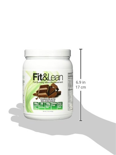 Fit & Lean Meal Shake Fat Burning Meal Replacement with Protein, Fiber, Probiotics and Organic Fruits & Vegetables and Green Tea for Weight Loss, 1lb, Chocolate, 10 Servings Per Container 12