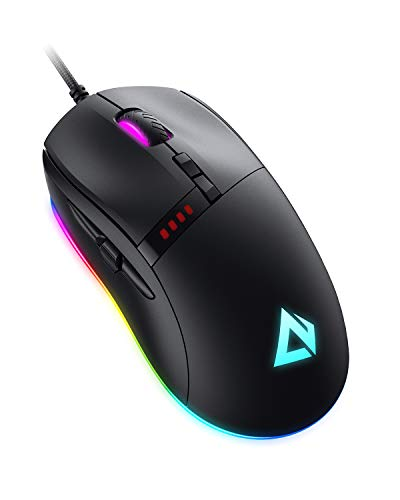 AUKEY Knight Gaming Mouse, RGB Wired Gaming Mouse with 10000 DPI, 8...