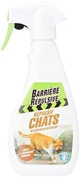 BARRIERE REPULSIVE Répulsif Chats Intérieur et Extérieur, Parfum agréable, Prêt à l'emploi, 500 mL