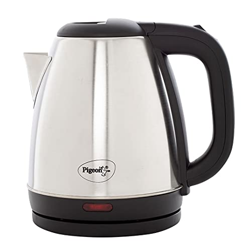 Pigeon by Stovekraft Amaze Plus Electric Kettle with Stainless Steel Body, 1.5 litres boiler for...