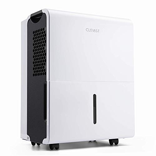 CLEVAST 1,500 Sq. Ft Energy Star Dehumidifier for Home, Basement, Living Room, Garage or Closet - Efficiently Removes Moisture,0.8 Gallons Removable Water Tank Capacity, UL Listed