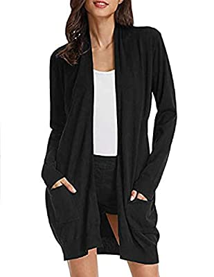 Comfortable and Versatile Sweater: Be made of stretchy breathable fabric,not too thick or thin,fit well and keep cozy. Great for every day,looks elegant and casual in formal, vocation, travel, party or other occasions. Show your good taste when you p...
