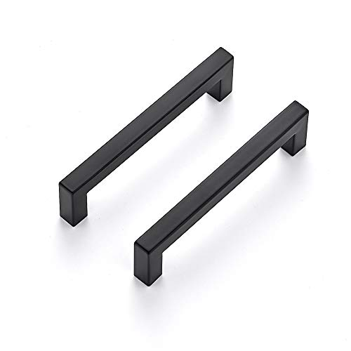 Ravinte 30 Pack 5 Inch Kitchen Square Cabinet Handles Matte Black Cabinet Pulls Black Drawer Pulls Kitchen Cabinet...