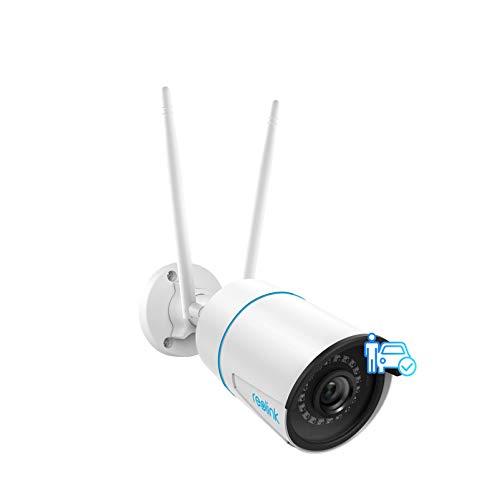 Reolink RLC-510WA, Telecamera di Sicurezza IP CCTV WiFi 2,4/5 GHz 5MP per Esterni con Rilevamento di Persone e Veicoli, Visione Notturna, Impermeabilità IP66, Slot per Scheda Micro SD e Time-Lapse