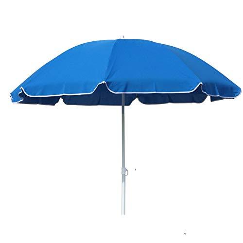 Strandschirm 160cm knickbar Polyester blau, grün oder rot Sonnenschirm Schirm, Farbe:blau