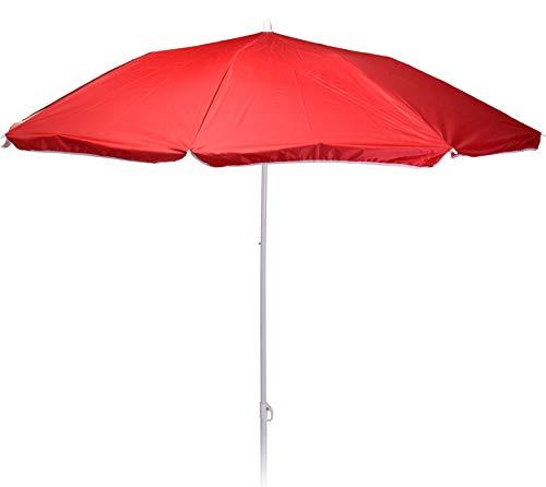 matrasa Sonnenschirm REFLEXA mit UV-Schutz UPF 50+ Platzsparend Knickgelenk Höhenverstellbar 180 cm Rot
