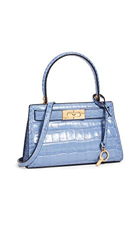 31o70Us+twL Leather: Croc-embossed cowhide Structured silhouette, Hinged top with snap clasps Length: 7.75in / 20cm