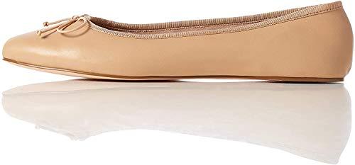 find. Leather Ballet Pump Bailarinas, Beige, 39 EU