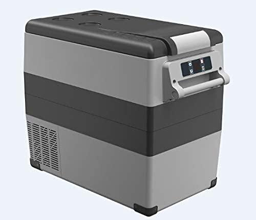 XBR Pannelli solari Impermeabili, 35/45/55 Litri Compressore AC / DC12 / 24V Portatile Campeggio Picnic RV Auto Frigorifero Mini Frigo Congelatore Frigorifero da Viaggio (Colore: 55litri)