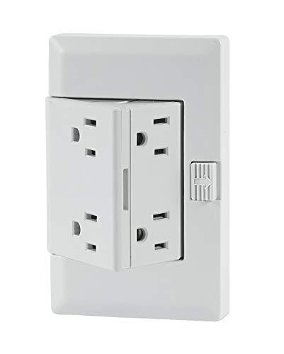 theOUTlet Basic - Permanent Outlet Extender, 4 Receptacles, Tamper Resistant, 15A, 125V