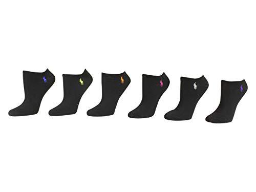 Polo Ralph Lauren Women's 6-Pack Ultra Low Cut Socks black