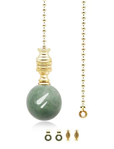 Interruptor de cadena de luz de bola de mármol verde,cable de cadena de luz para baño,ventilador de luz de techo,1 metro de longitud