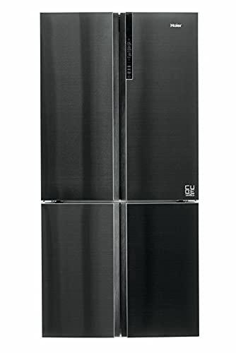 Haier HTF-610DSN7 CUBE Serie Kühl-Gefrier-Kombination / Multi Door / 190 cm / 428 L Kühlteil / 200 L Gefrierteil / ABT / Humidity Zone / Dry Zone / Switch Zone / Total No Frost, Black Inox