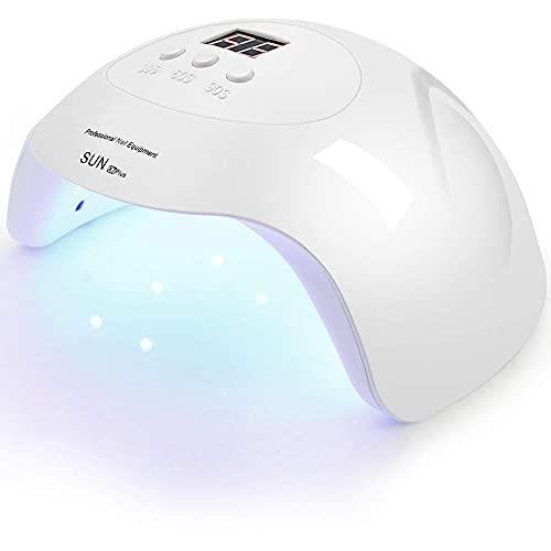 UV LED Nail Lamp PHIAKLE Professional Nail Dryer X7 for Gel and Regular Polish Led Lamp for Gel Nails 3 Timers White