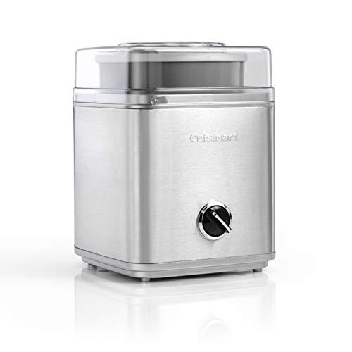 Cuisinart ICE30 Ice Cream Maker, Sorbet and Frozen Yogurt Maker, Silver, 220V, Import from UK