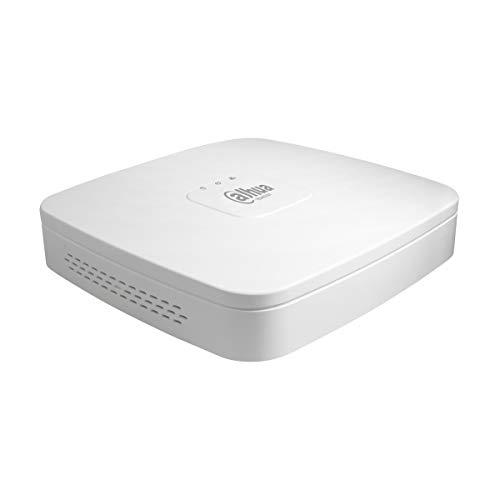 Dahua Technology - NVR4108-4KS2 - Videoregistratore Di Rete 8 canali IP Smart 1U, Ultra Hd 4K, e H.265 Lite, 1HDD, ONVIF 2.4, Bianco