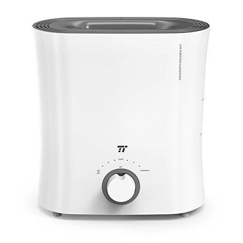 TaoTronics | Luchtreiniger | Luchtbevochtiging | Kiemvrije koude verdamping | Stil apparaat | Voor kinderkamer, kantoor en slaapkamer | 15 W