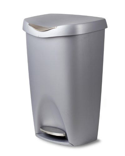 Umbra Brim 13 Gallon Trash Can with Lid - Large...