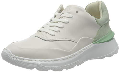 Clarks Sprintlitelace, Zapatillas Mujer, Piel Verde Menta, 39 EU