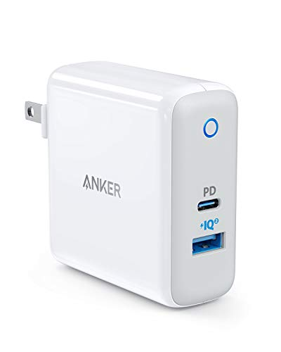 USB-C PD Charger, Anker Dual-Port PowerPort II with Power Delivery for MacBook, Pixel, iPhone X / 8 / 8 Plus, and PowerIQ 2.0 for S9 / S9+ / S8 / S8+, Note 8, Galaxy Series