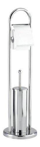 WENKO 16993100 Exclusiv Stand WC-Garnitur Vasto - WC-Bürstenhalter, Edelstahl rostfrei, 22 x 81 x 22 cm, glänzend
