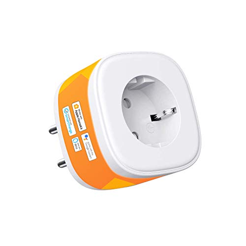 Enchufe Inteligente Wi-Fi Smart Plug 16A 3680W, Compatible con Apple HomeKit, Alexa Echo y Google Assistant. Control Remoto eHomeLife App.