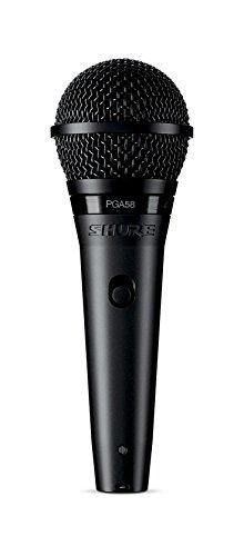 SHURE PGA58 Micrófono Dinámico Cardioide para Voz con Cable XLR...