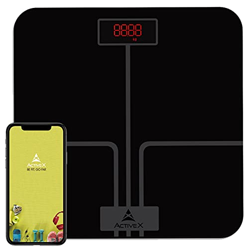 ActiveX (Australia) Ivy+ BMI Bluetooth Digital Body Weight Scale, Smart Weighing Bathroom Scale with...