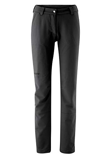 Maier Sports Damen Helga Softshellhose Outdoor Elastischhose, Schwarz (Black), 42