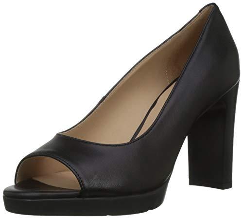 Geox D ANNYA High Sandal D, Escarpins Bout Ouvert Femme, Noir (Black C9999), 39 EU
