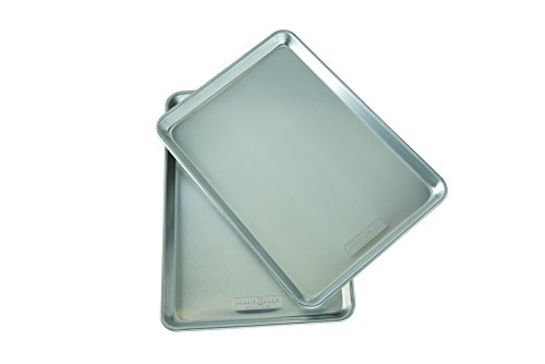 Nordic Ware Natural Aluminum Commercial Baker's Half Sheet (2 Pack), Silver