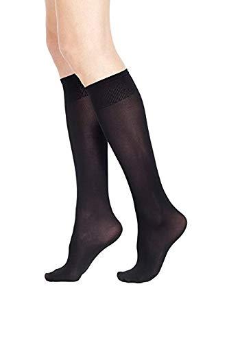 2paia gambaletti 50 den microfibra pompea calze calzini nostress Tg. unica nero