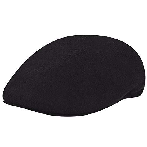Kangol Herren Damen Mütze Schirmmütze Flatcap Original 504   Schlägermütze mit Kultstatus 0258BC Schirmmütze Mütze (M/56-57 - schwarz)