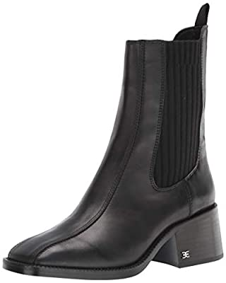 Sam Edelman Fashion Boot 100% Leather Chelsea Boot Slip-on providing easy wearability. Heel height: 2.25 inches