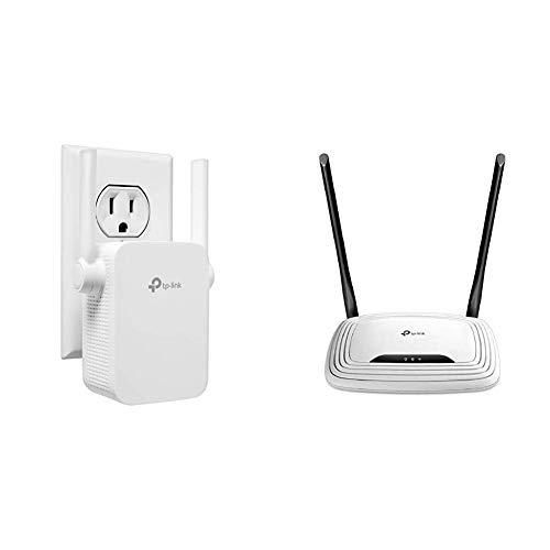 TP-Link | N300 WiFi Range Extender (TL-WA855RE) with TP-LinkN300 Wireless Wi-Fi Router (TL-WR841N) Bundle