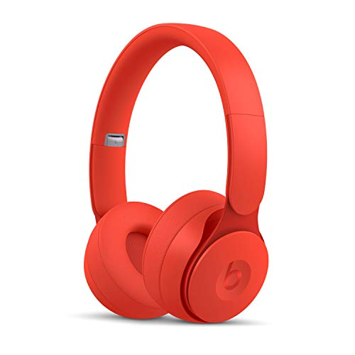 Beats Solo Pro with Noise Canceling - Wireless Over-Ear Headphones - Apple H1 Chip, Class 1 Bluetooth, 22 Hours of Uninterrupted Sound - More Matte Collection - Red