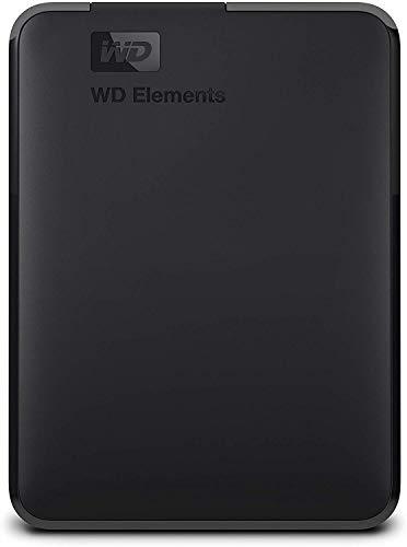 Western Digital WD Elements Hard Disk Esterno, Portatile, USB 3.0, 2 TB, Grigio