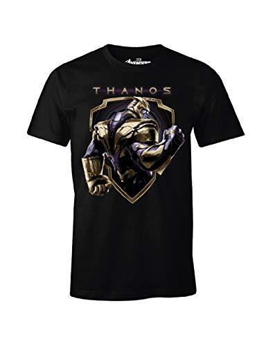 T-Shirt Uomo Avengers Thanos Crest Endgame Marvel Cotton Black - S