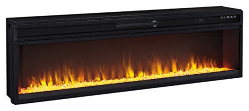 Signature Design by Ashley Entertainment Accessories Wide Fireplace Insert Black