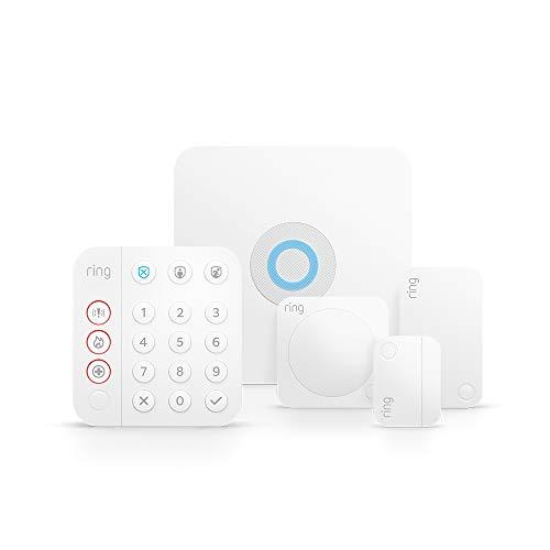 Ring Alarm Kit 5 pièces (2e génération) par Amazon   Système de sécurité domestique avec surveillance assistée optionnelle   Sans engagement à long terme   Fonctionne avec Alexa