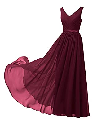 Please Note: For orders fulfilled by Alicepub: One Dress Style, Two Back Design(Lace-up and Zipper) for your choice, Message us your favorite back design! For orders fulfilled by amazon, there is only ZIPPER back design now This classic chiffon A lin...